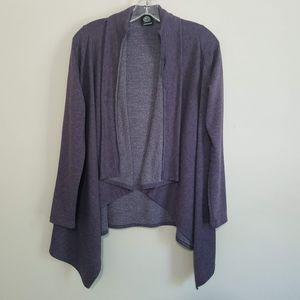 Bobeau Women's Purple Soft Wrap Cardigan